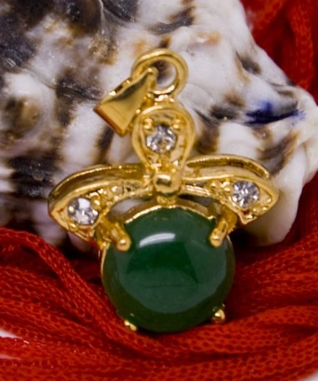 Gold Jade Crystal Pendant Necklace [style2]