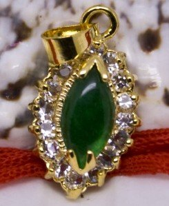 18K Gold Jade Crystal Pendant Necklace [style3]
