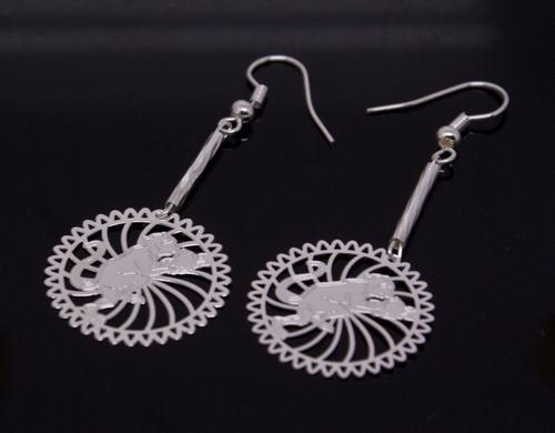 Silver Monkey (Chinese Zodiac) Earring