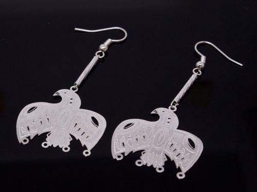 Silver Aztec Mayan Bird Earrings [style2]