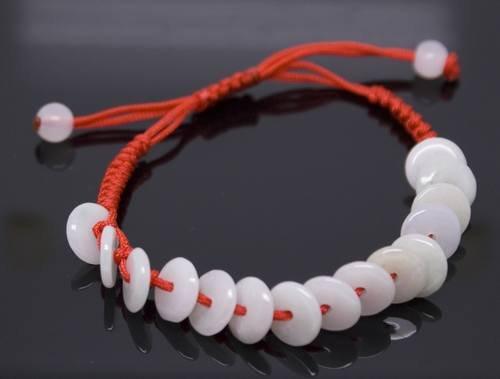 Chinese RuYi Jade 15 Circle Bead Bracelet