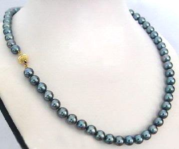 Genuine Black Freshwater Pearl Necklace