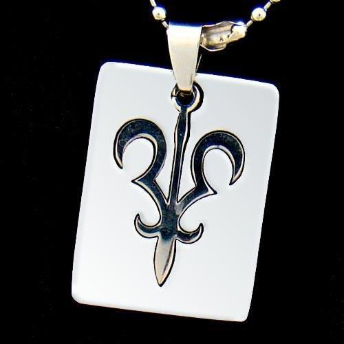 Silver Fleur De Lis Pendant Necklace [style2]