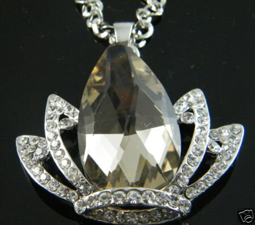 Swarovski Crystal Crown Pendant Necklace