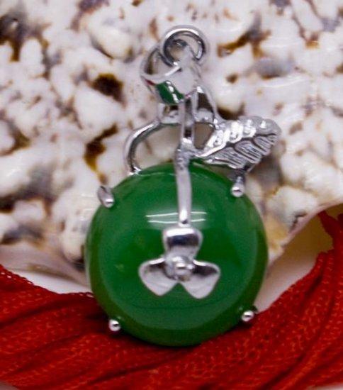 Silver Jade Fruit Pendant Necklace [style1]