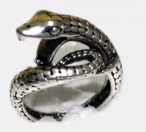 Tibetan Silver Snake Serpent Ring