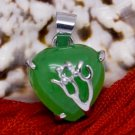 Silver Jade Heart Pendant Necklace [style3]