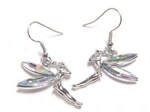 Clear Tinkerbell Fairy Earrings