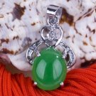 Silver Jade Crystal Pendant Necklace [style9]