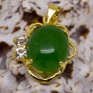 18K Gold Jade Crystal Pendant Necklace [style4]