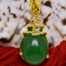 18K Gold Jade Crystal Pendant Necklace [style14]