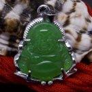 Silver Jade Buddha Buddhist Pendant Necklace [style4]