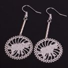 Silver Ox Cow Chinese Zodiac Earrings