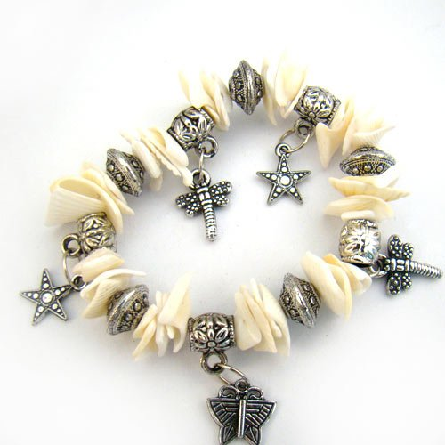 Natural Shell Charm Star Dragonfly Butterfly Bracelet