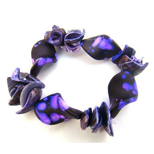Violet Purple Shell Bracelet [style2]