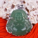 Silver Jade Buddha Buddhist Pendant Necklace [style6]