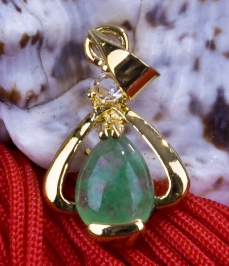 18K Gold Jade Pendant Necklace [style4]