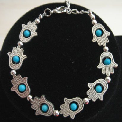 Hamsa Evil Eye Hand of Fatima Bracelet