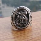 Antique Tibetan Silver Chinese Dragon Ring
