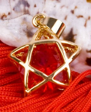 18K Gold Plated Crystal Star Necklace