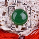 Silver Jade Crystal Chinese Lantern Pendant Necklace