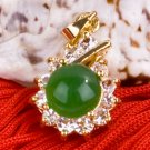 18K Gold Jade Crystal Pendant Necklace [style17]