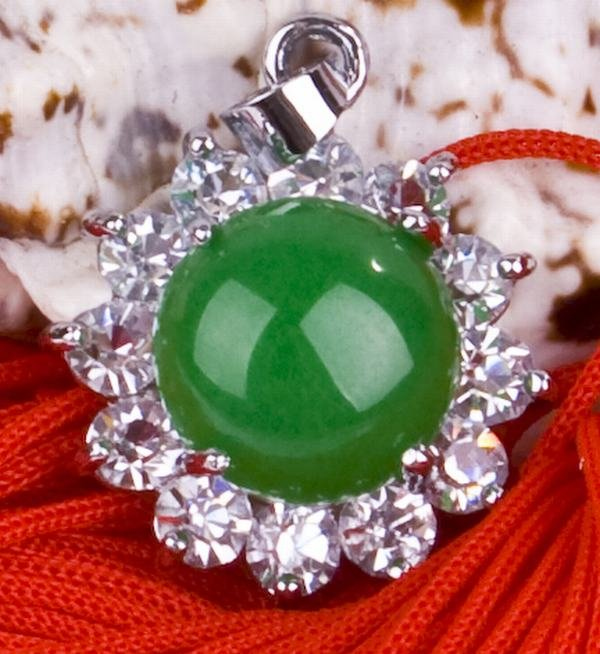 Silver Jade Crystal Pendant Necklace [style13]