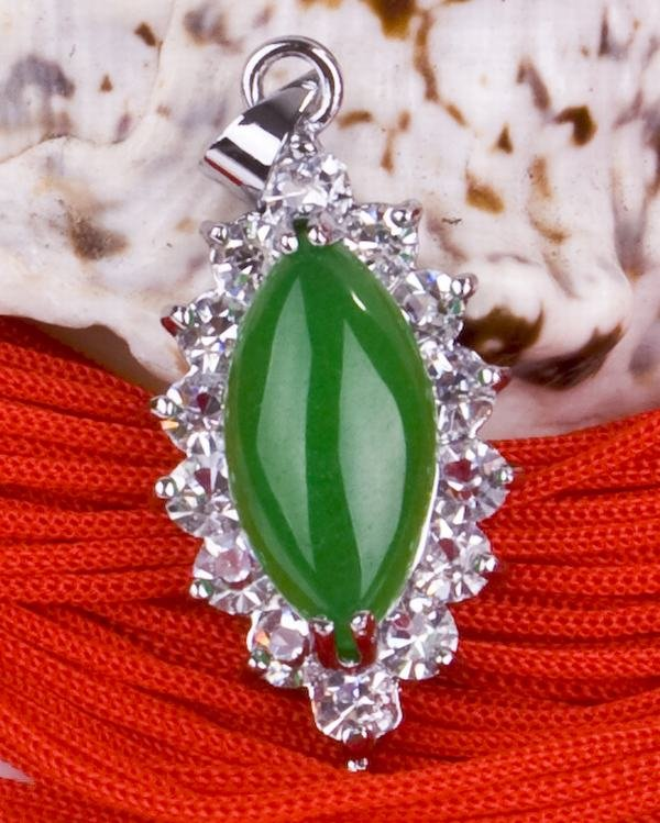 Silver Jade Crystal Pendant Necklace [style14]