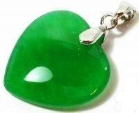 Genuine Jade Heart Pendant Necklace