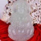 Jade Guan Yin Avalokiteśvara Bodhisattva Buddhist Amulet Talisman Pendant