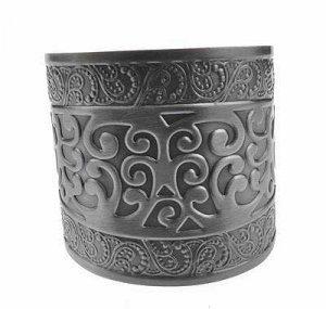Antique Silver Roman Greek Style Cuff Bangle Bracelet