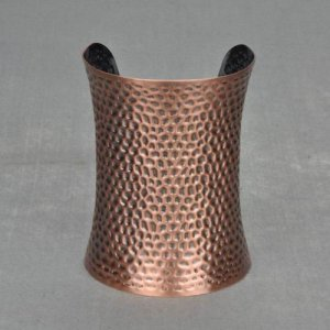 Antique Hammered Copper Textured Metal Cuff Bangle Indian Bracelet