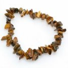 Genuine Tiger's Eye Gemstone Chips Tribal Bracelet