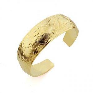 Genuine 18K Gold Plated Phoenix Bangle Bracelet
