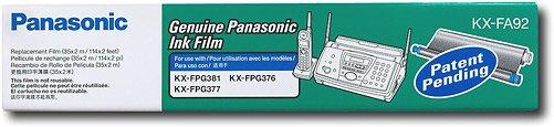 (2 ROLLS) Panasonic KX-FA92 Plain Paper Film Replacement Ink Cartridge for KX-FPG381
