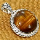 Silver Tiger's Eye Pendant Necklace [style5]