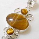 Silver Tiger's Eye Pendant Necklace [style8]