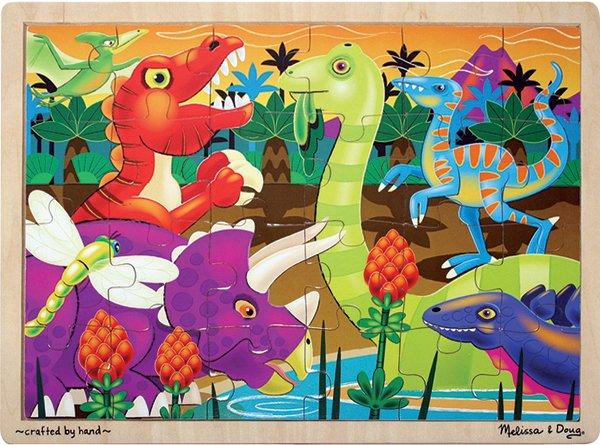 Prehistoric Sunset - 24 piece Melissa & Doug puzzle - Ages 3+