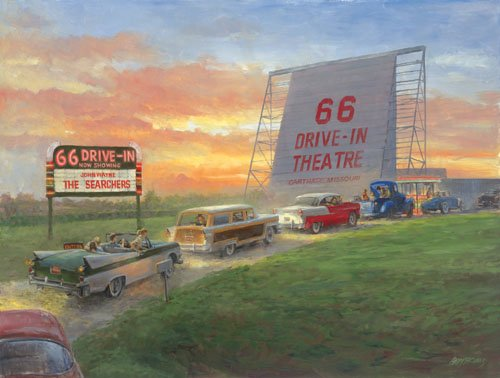 66 Drive In - 500 piece SunsOut puzzle - for Ages 12+