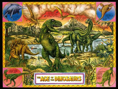 Age of Dinosaurs - 300 piece SunsOut puzzle - for Ages 8+