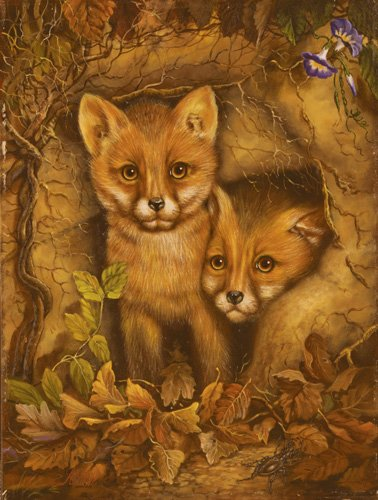 Fox Cubs - 300 piece SunsOut puzzle - for Ages 8+
