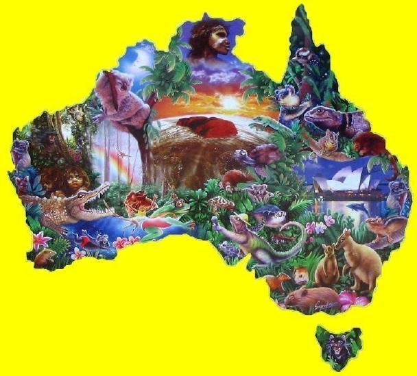 Down Under - 1,000 piece Shaped SunsOut puzzle - for Ages 12+