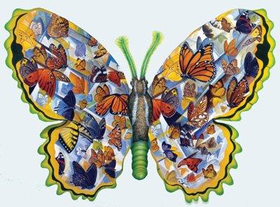 Migration - 1,000 piece Shaped SunsOut puzzle - for Ages 12+