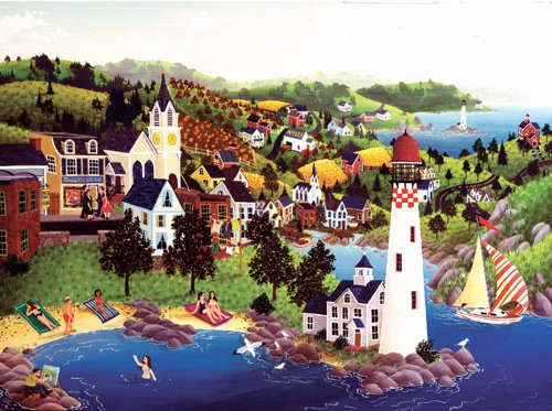 Lighthouse Beach - 1,000 piece SunsOut puzzle - for Ages 12+