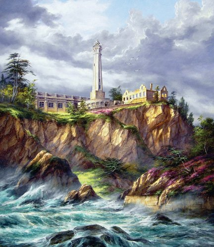 Alcatraz Lighthouse - 550 piece SunsOut puzzle - for Ages 12+