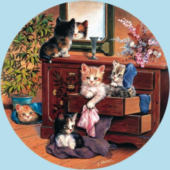 Bureau Cats - 1,000 piece SunsOut puzzle - for Ages 12+