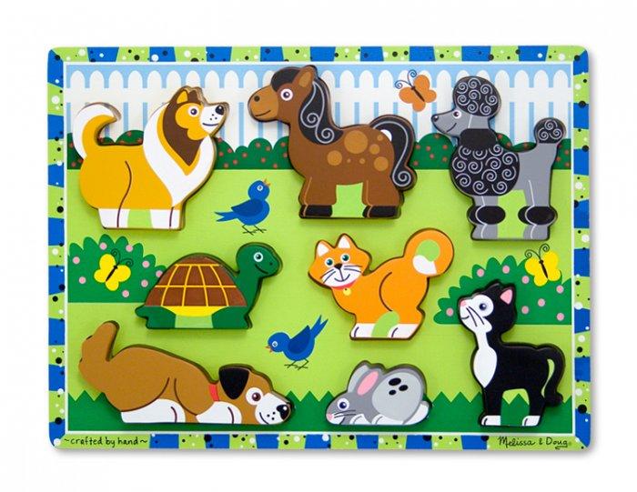 Pets Chunky - 8 piece Melissa & Doug puzzle - Ages 2+