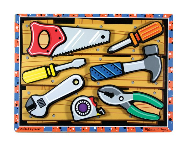 Tools Chunky - 7 piece Melissa & Doug puzzle - Ages 2+