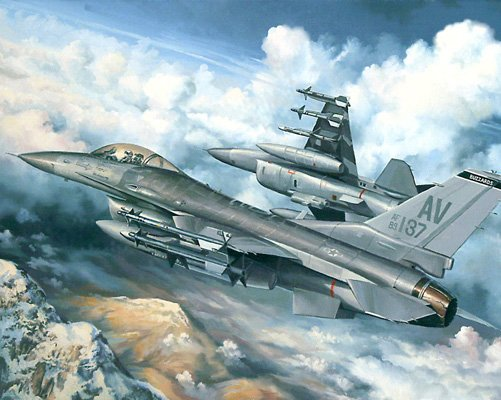 F-16 Fighter - 1,000 piece White Mountain puzzle - for Ages 12+