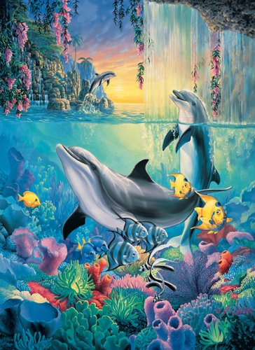 Dolphin Falls - 500 Large Piece SunsOut puzzle - for Ages 12+